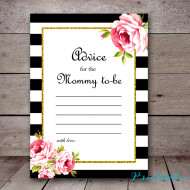 free printable advice for the mommy to be card, baby shower advice cards, babyshowerideas4u #babyshower