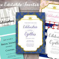 Free Editable Baby Shower Invitations