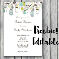 Free Editable Invitation