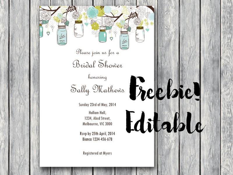 Free Editable Baby Shower Invitation Baby Shower Ideas