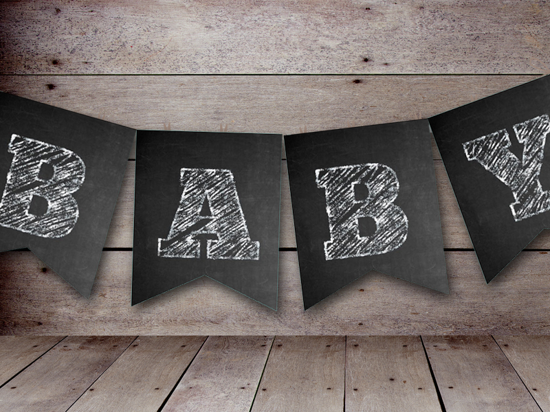 Free Chalkboard Banner Baby Shower Ideas Themes Games