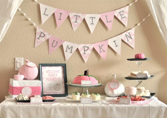 little pumpkin baby shower for girl