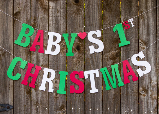Baby's 1st Christmas Banner