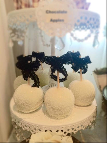 Black and White Shabby Chic Baby Shower cake pops