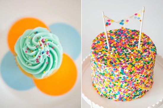 Confetti & Sprinkles Baby Shower cake pretty