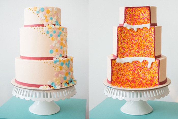 Captivating Confetti U0026 Sprinkles Baby Shower Cake