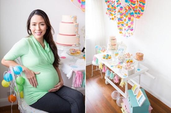 Confetti & Sprinkles Baby Shower dessert table