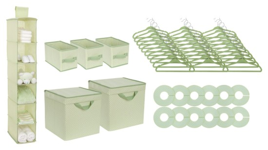 Nursery Storage Set, Green