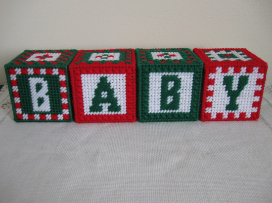 Set of 4 BABY Jingle Bell Blocks