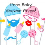 FREE Baby Shower Photo Booth Props