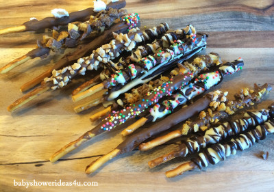 gourmet pocky sticks baby shower treats 7