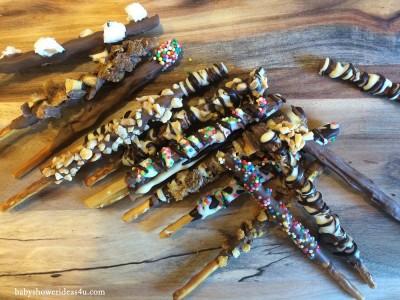 gourmet pocky sticks baby shower treats 9