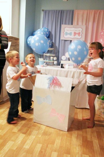 Little Man or Little Lady Gender Reveal balloon reveal box