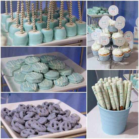 Little Man or Little Lady Gender Reveal blue food ideas
