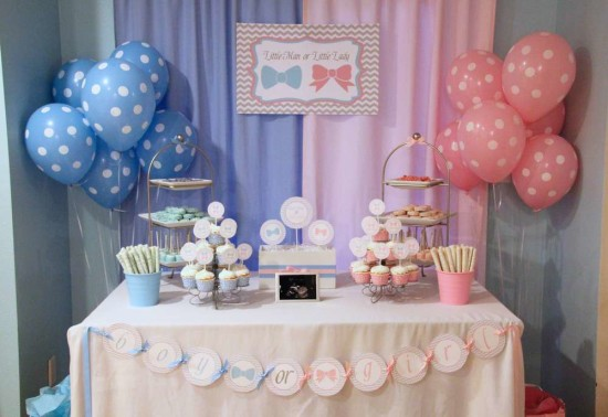 Little Man or Little Lady Gender Reveal party ideas