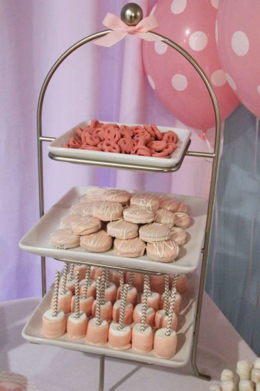 Little Man or Little Lady Gender Reveal, pink food ideas