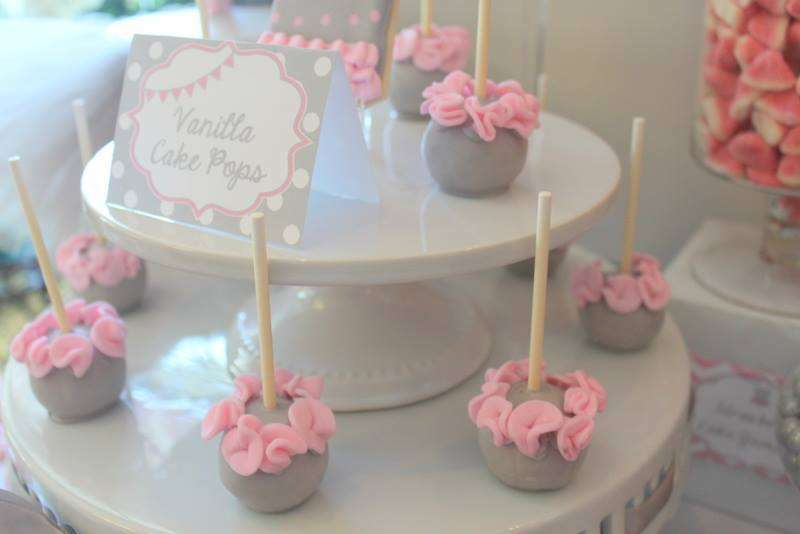 Pink Tutu Twin Baby Shower Cakepops Baby Shower Ideas Themes Games