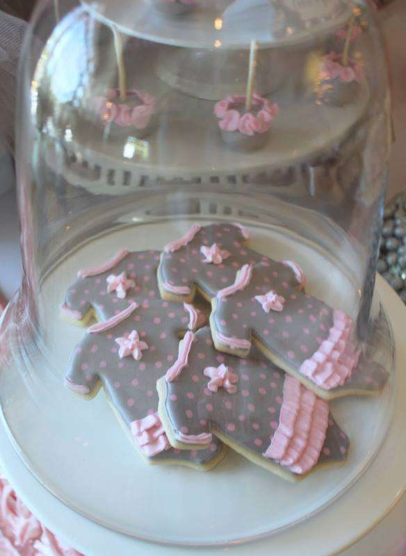 Pink Tutu Twin Baby Shower food, treats