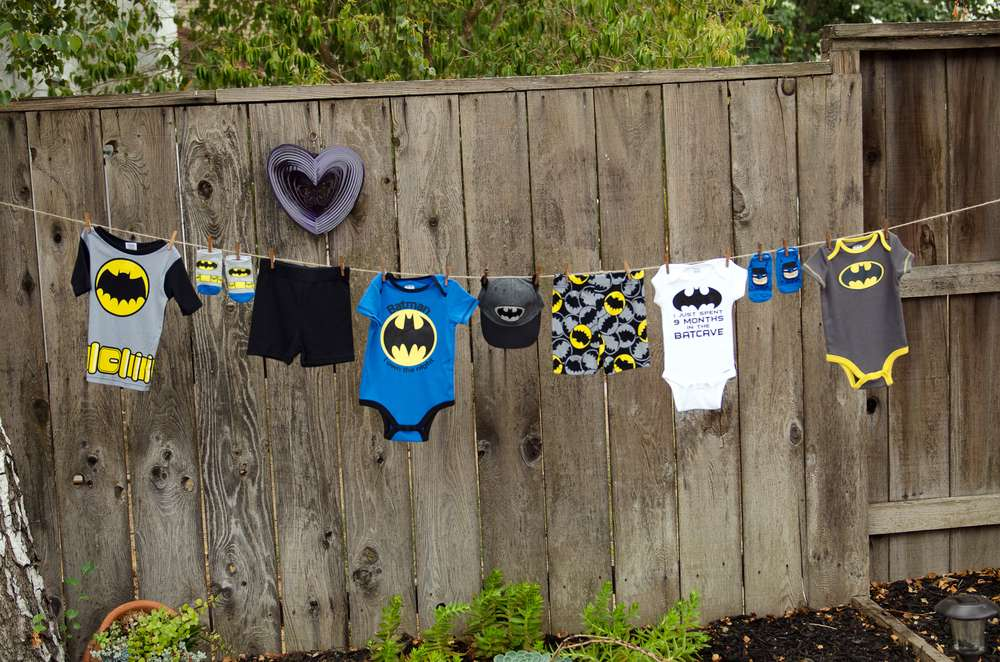 batman baby shower ideas clothesline decor baby shower ideas