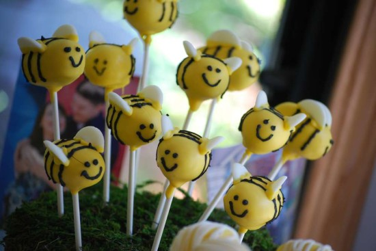 Bumble Bee Baby Shower Cakepops Theme