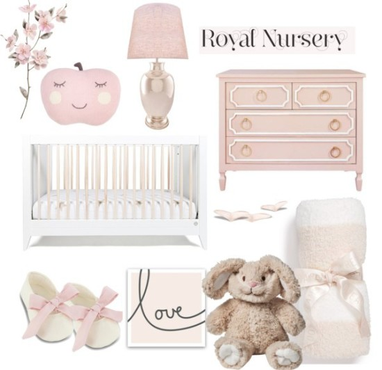 pink princess baby nursery ideas