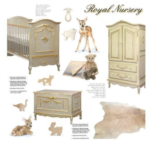 royal prince or princess baby nursery room