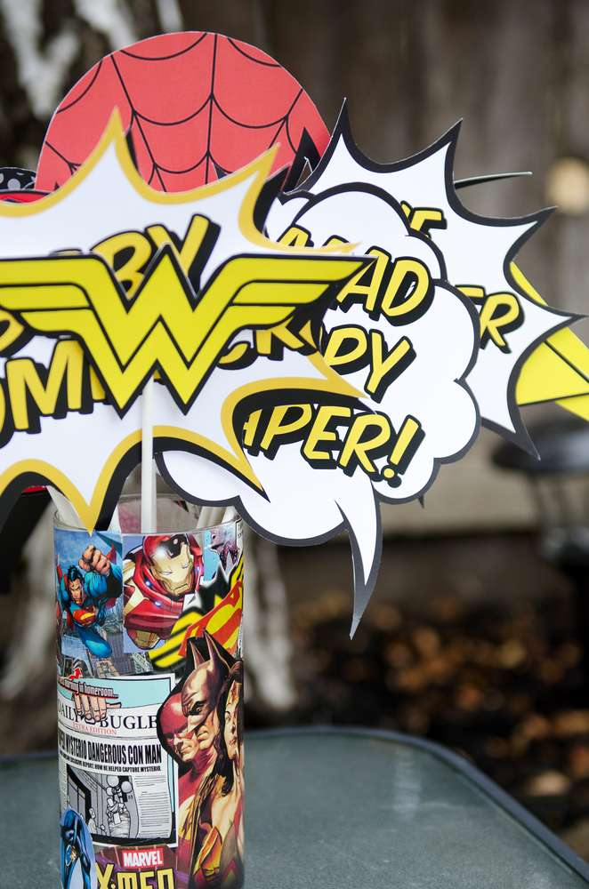 Superhero Baby Shower Centerpieces Baby Shower Ideas Themes Games
