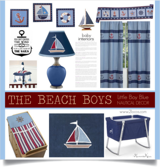 the beach boys, nautical baby nursery decorations