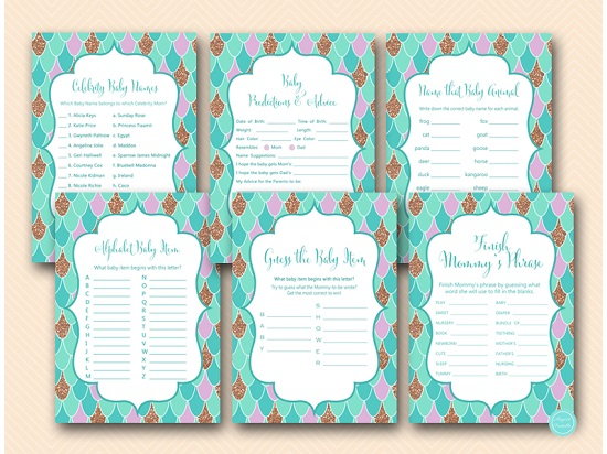 Mermaid Baby Shower Games