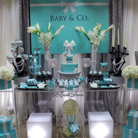 Tiffany themed baby shower baby shower ideas themes - Decoration a la main ...