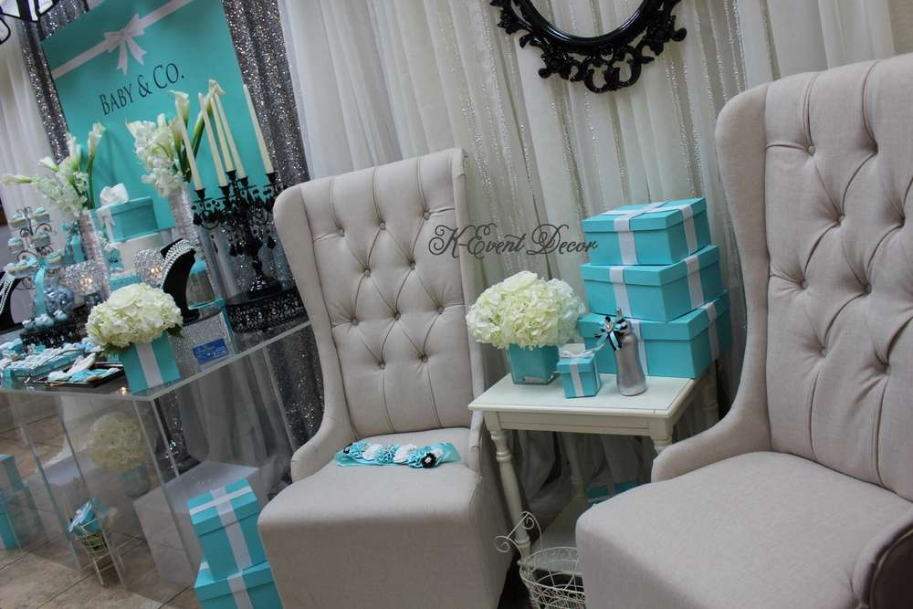 Tiffany Themed Baby Shower Seats
