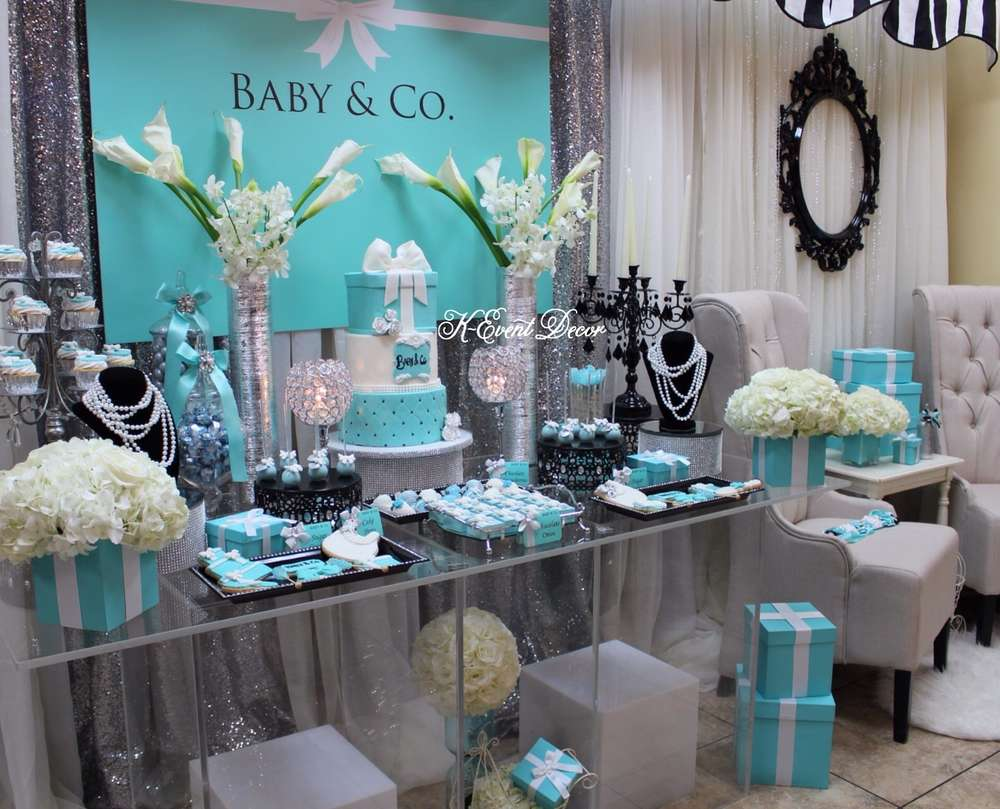 Baby and co baby shower dessert table ideas baby shower for Baby shower decoration ideas images