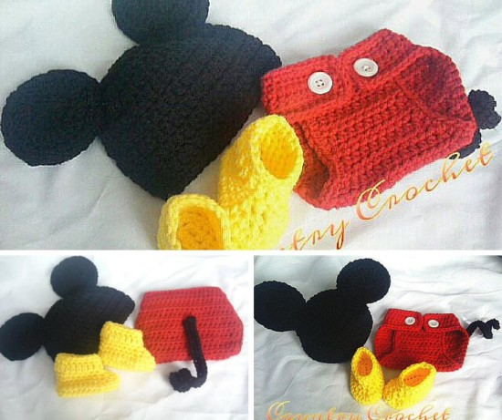 Mickey Mouse Crochet Baby Shower Ideas Themes Games
