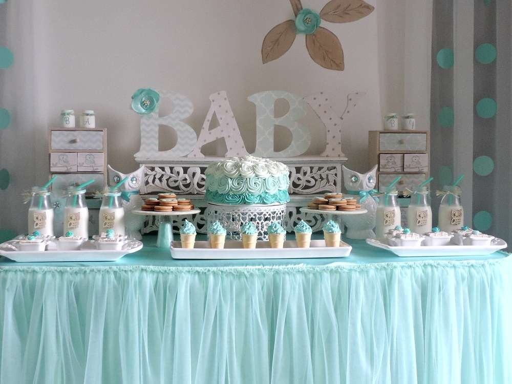 Welcome home baby owl shower baby shower ideas themes games - Deco baby shower garcon ...
