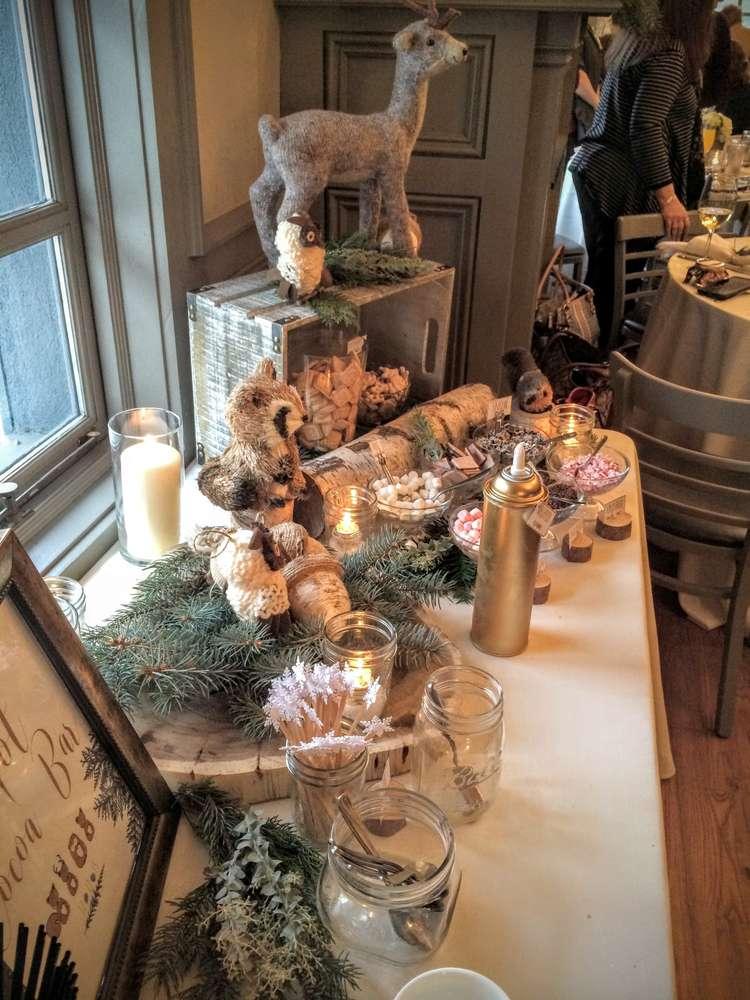 Wintery Woodland Animal Baby Shower Themes