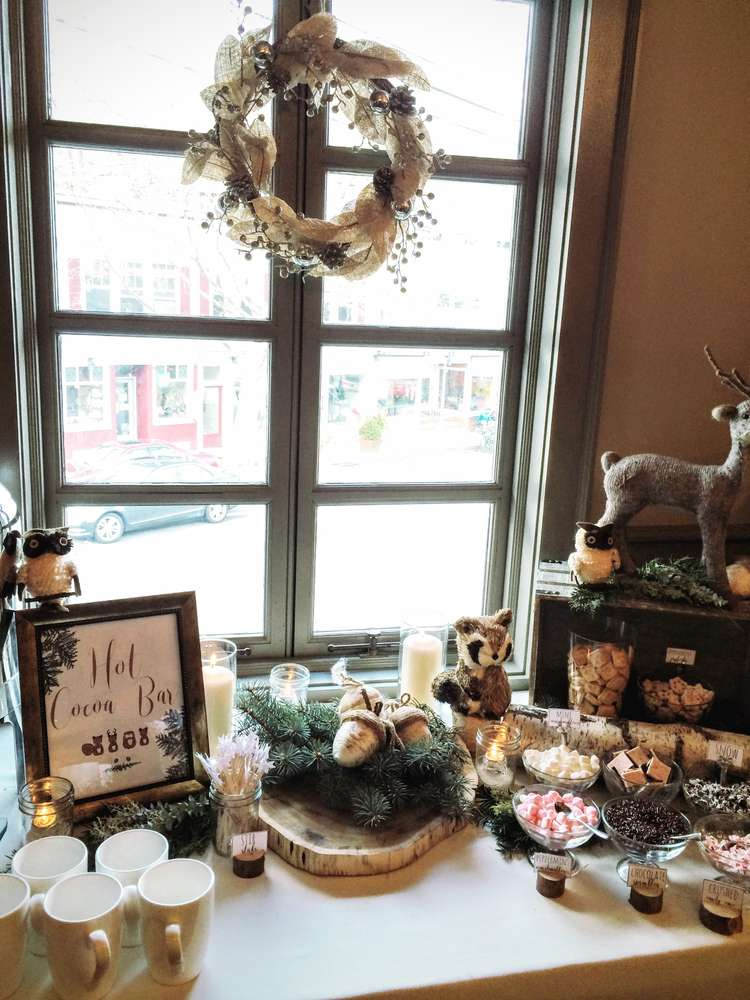 ... Wintery Woodland Animal Baby Shower Hot Cocoa Bar  ...