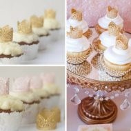beautiful-gold-lace-toppers-princess-baby-shower