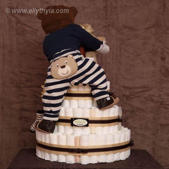 Guitar Diaper Cake Directions