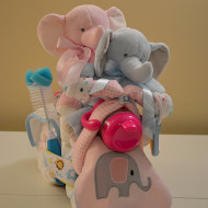 Twin Motorcycle Diaper Cake Boy Girl