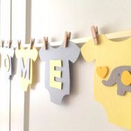 yellow-and-gray-elephant-baby-shower-decoration