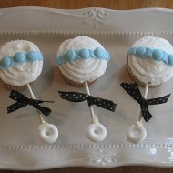 adorable baby rattle cupcakes