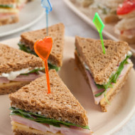 baby-shower-ideas-food ideas triangle sandwiches