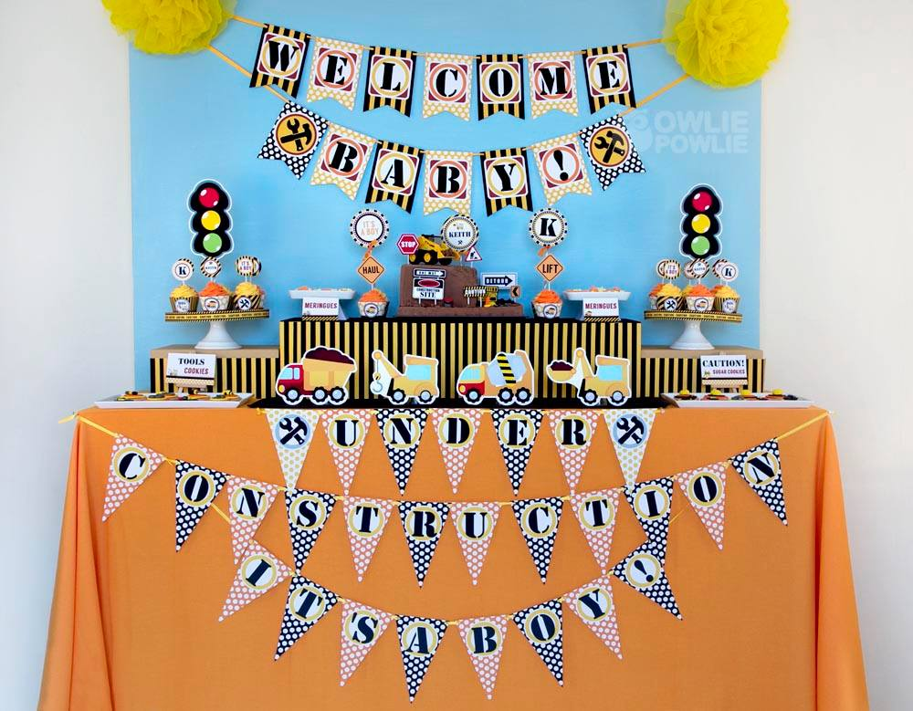 baby under construction baby shower baby shower ideas themes