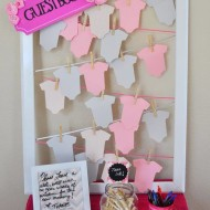 cute baby shower guestbook idea