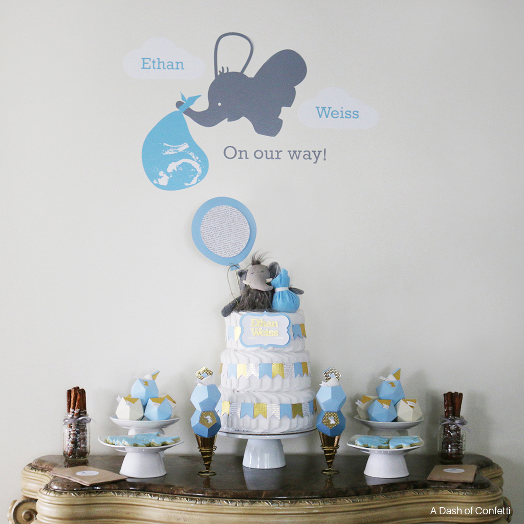 Captivating Lovely Elephant Themed Baby Shower Baby Is On The Way