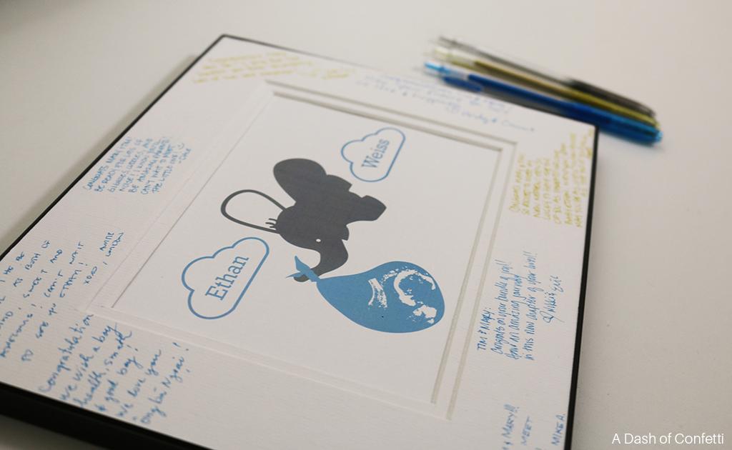 Baby Shower Picture Frame Elephant ovejita u2026 baby shower ideas ...