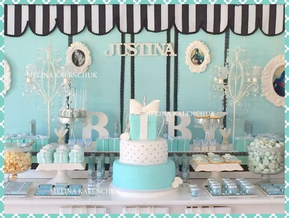 Elegant ... Tiffany Baby Shower Dessert Table Decorations ...