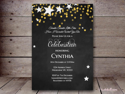 Twinkle twinkle gender reveal baby shower ideas themes games so get your star shaped glittery gold invitations sent out and be ready for a fantastic event filmwisefo Gallery
