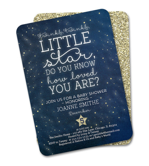 twinkle twinkle gender reveal - baby shower ideas - themes - games, Baby shower invitations