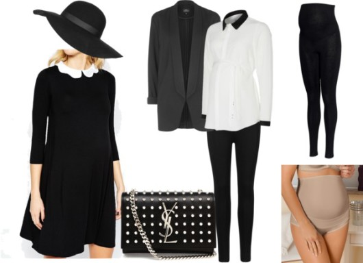 Maternity balck and white fashion